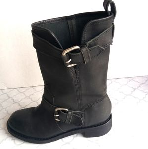 Dkny leather mid -boots  made in Brazil